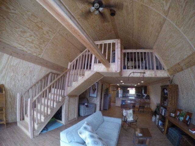 Prefab arched cabin interior