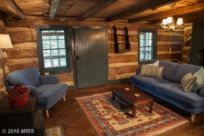 1850's handmade cabin inside view