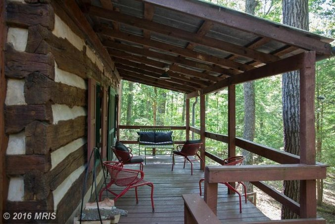 1850's handmade cabin porch