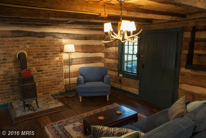 1850's handmade cabin living room