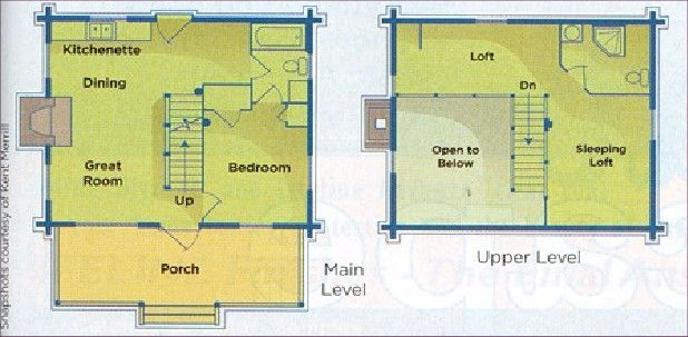 Cataloochee Cabin floor plan