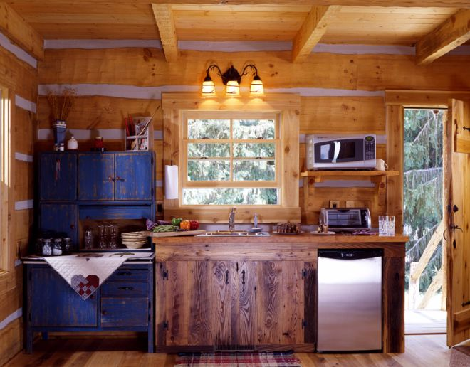 Cataloochee Cabin rustic kitchen