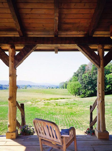 Cataloochee Cabin porch