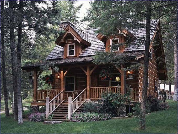 Cozy log cabin with charming look