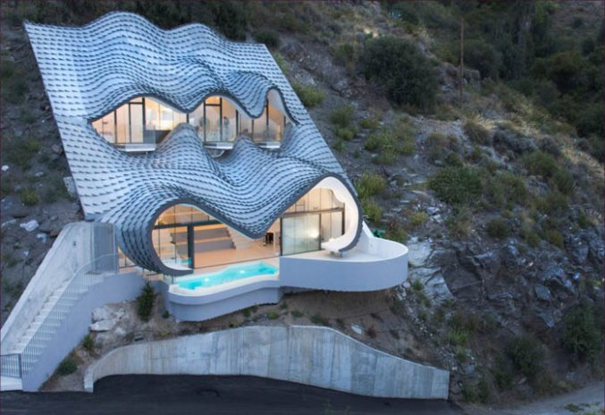 Dragon house on the cliff
