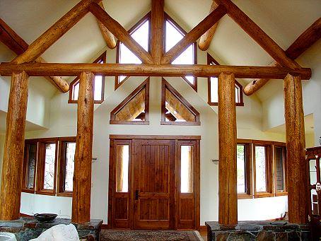Log cabin entrance