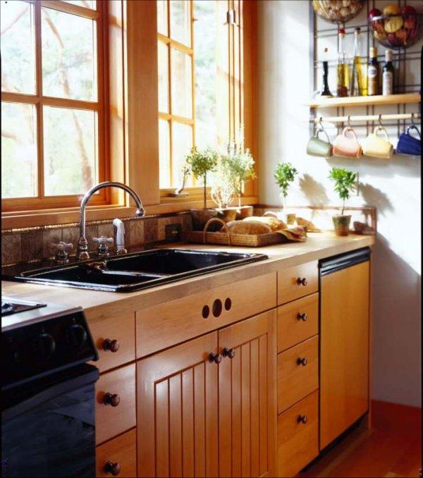 Orcas cabin interior kitchen