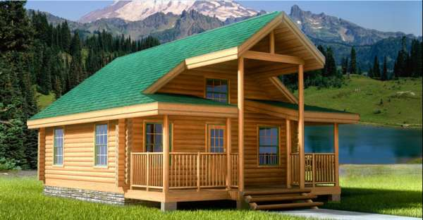 540 Sq Ft Log cabin