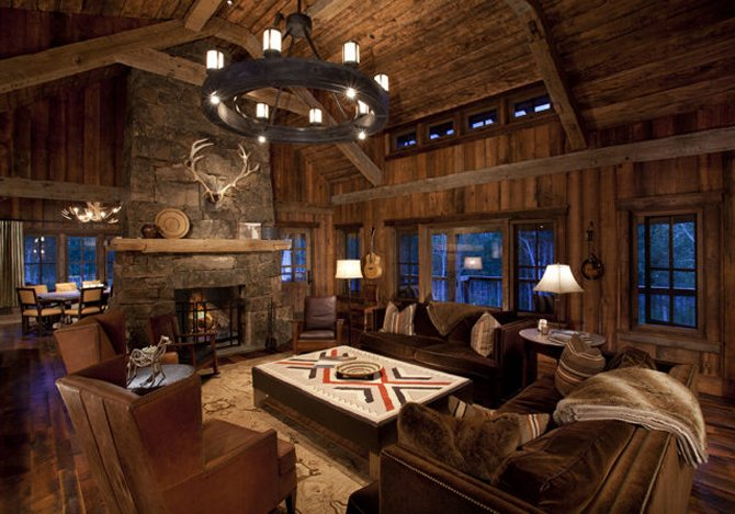 Awesome log home interior