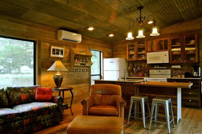 Cabin reclaimed kitchen