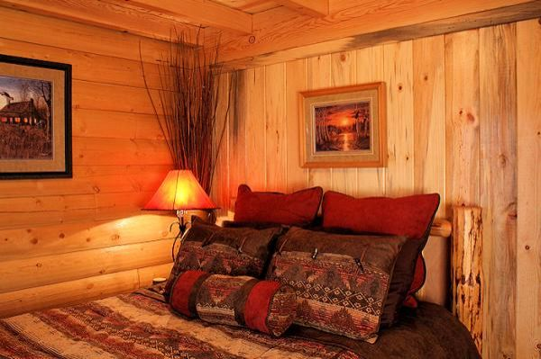 Charming cabin bedroom