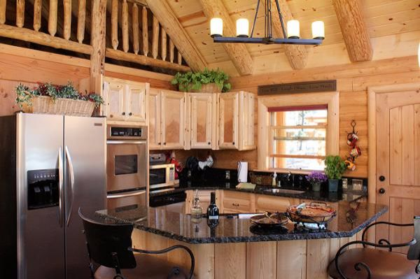 Charming cabin kitchen