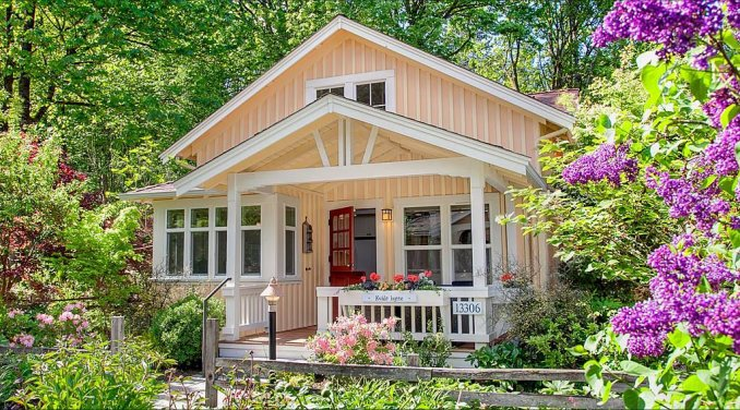 This Cozy Cottage Has A Charming Appeal Both Outside And Inside As You Step Are Surprised To See How Much More Spacious It Is Than Imagined