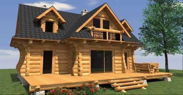 European style log cabin