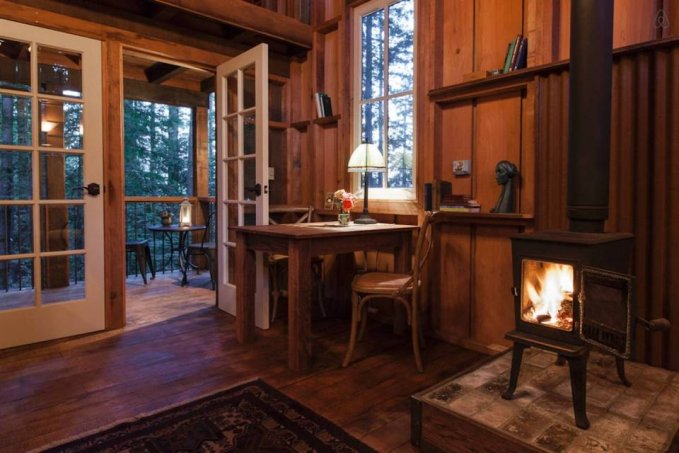 Handcrafted cabin hideaway interior