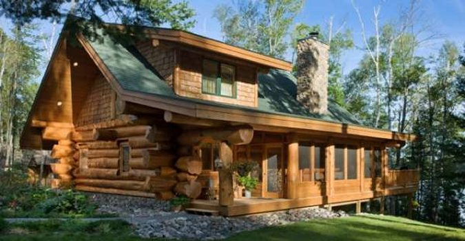 Log home by master craftsman