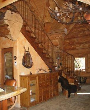 Mountain log cabin interior