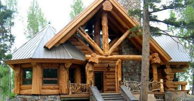Beautiful Mountain Log Cabin With Lovely Interior Cozy