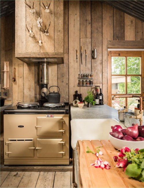 Rustic Firefly cabin kitchen