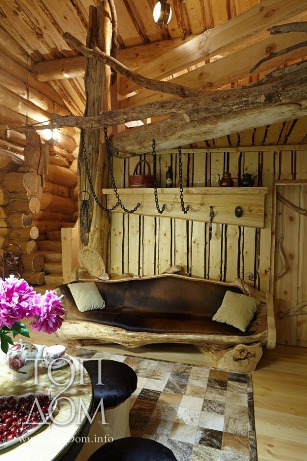 Log cabin inside