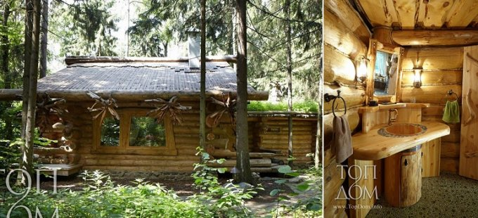 Log cabin Russian design