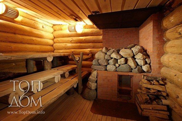 Log cabin sauna