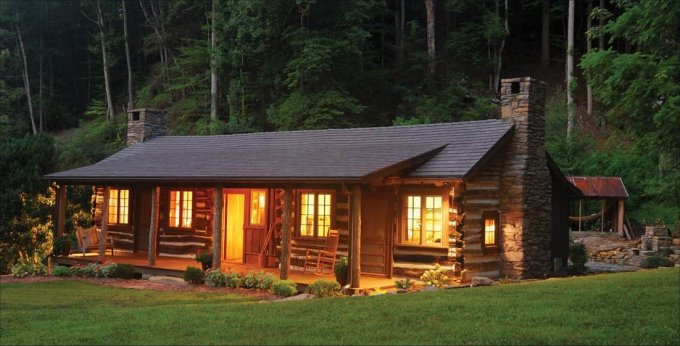 Renovated log cabin