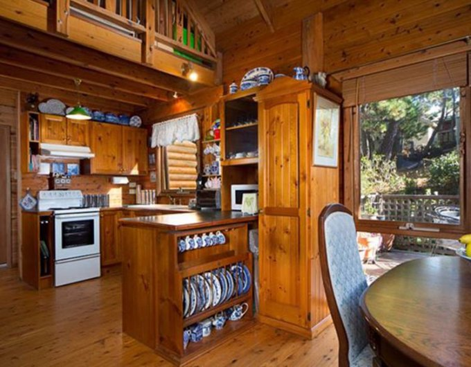 Appalachian log cabin kitchen