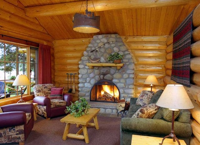 Cozy alpine log cabin cozy homes life for One room log house