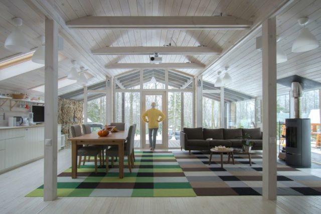 Prefab cabin interior