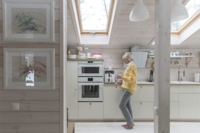 Prefab cabin kitchen