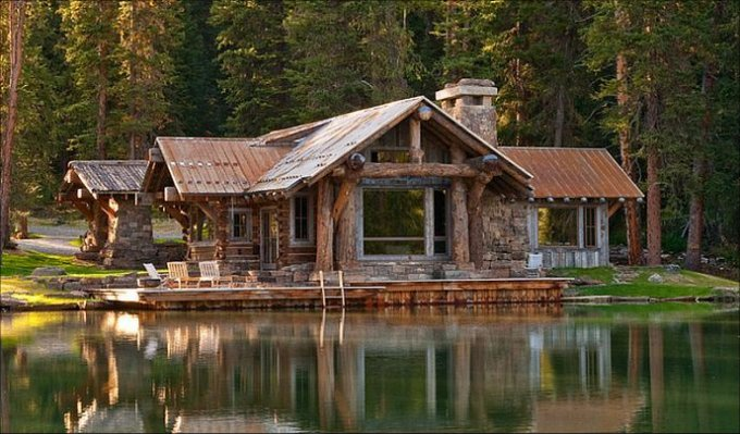 Beautiful montana log cabin is a masterpiece cozy homes life for Cost of building a house in montana