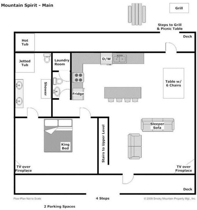 Mountain Spirit cabin floor plan
