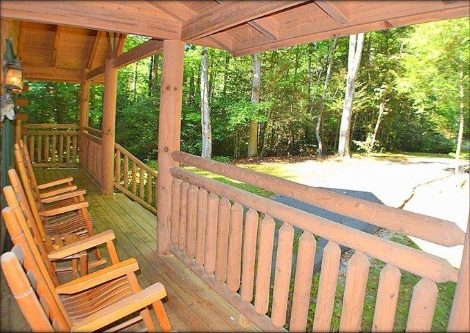 Mountain Spirit log cabin porch