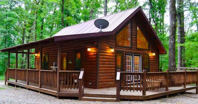 Oak Ridge log cabin