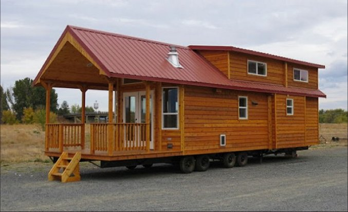 This Portable Cabin Is A Two Bedroom Tiny House With A Large 10 Foot  Covered Porch. The Cedar Siding And Metal Roof Conveys The Classic Cabin  Look That So ...