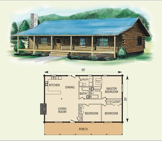 10 Cabin Floor Plans Page 3 Of 3 Cozy Homes Life