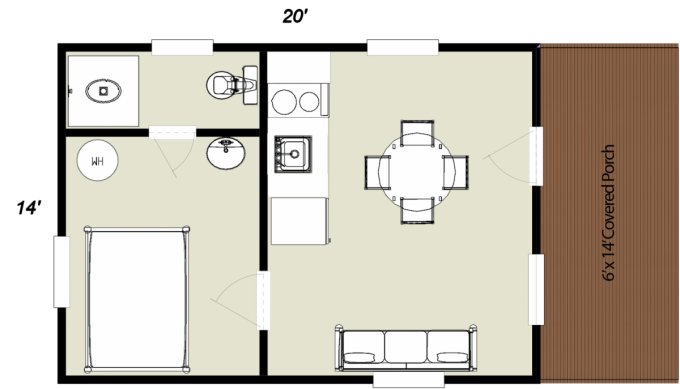 Serenity log cabin floor plan