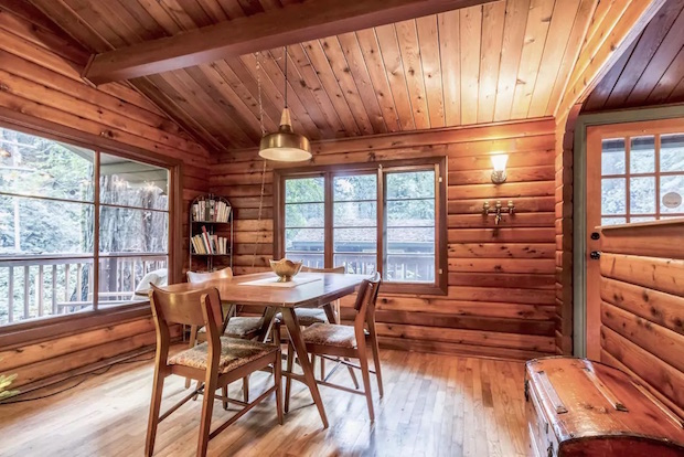 Creekside cabin dining room