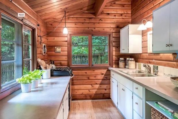 Creekside cabin kitchen