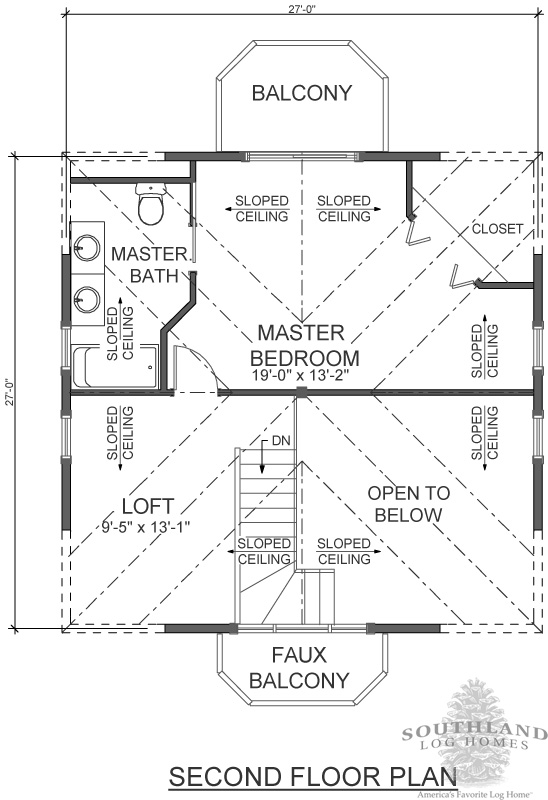 Log cabin kit floor plan