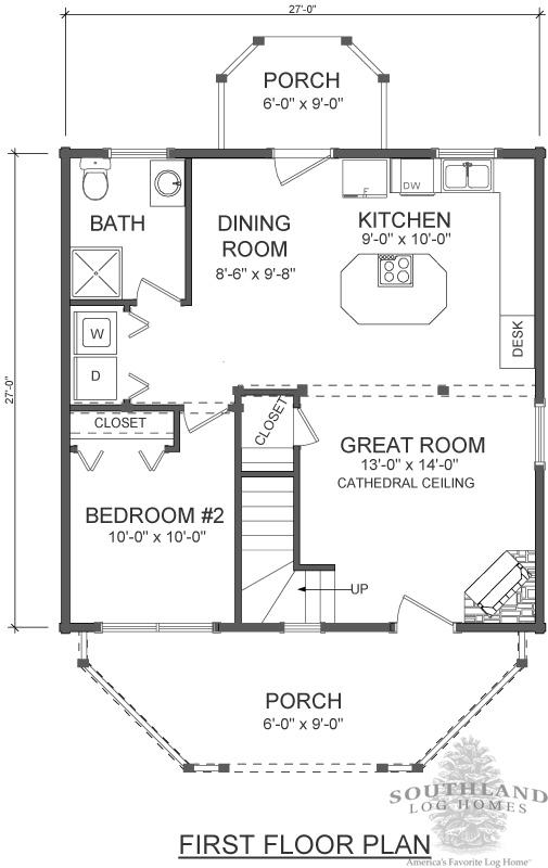 Log cabin kit floor plan
