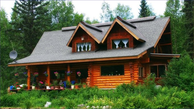 Log cabin in Palmer Alaska