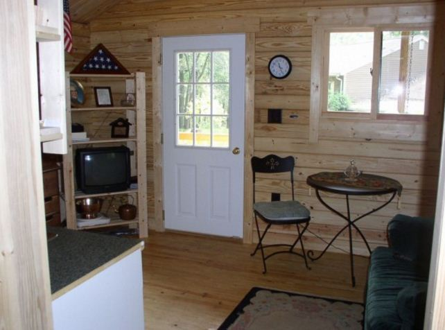 Serenity log cabin inside