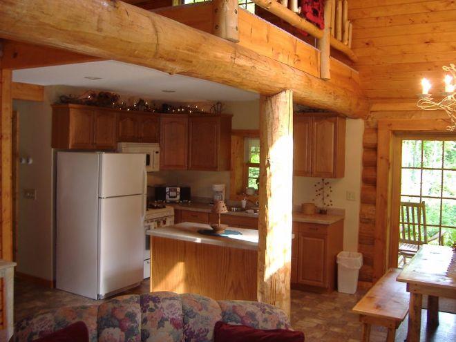 Woodland log cabin kitchen