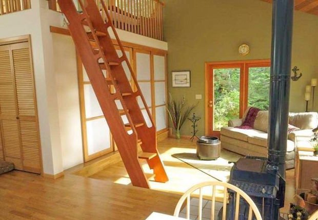 Alaska cabin interior