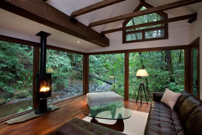 Cozy cabin in California inside picture