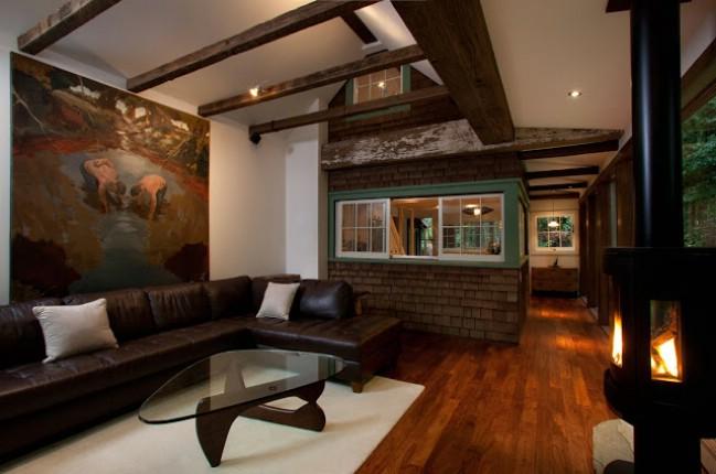 Cozy Cabin In California With Modern Interior Cozy Homes