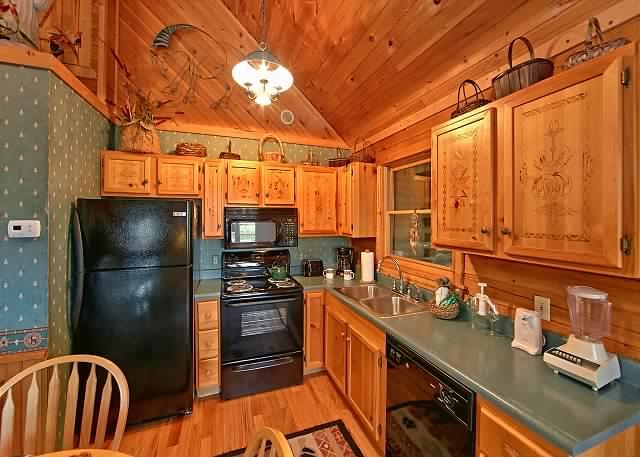 Custom built log cabin kitchen