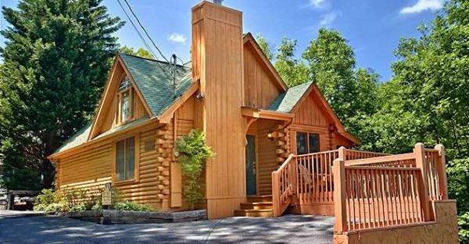 Custom built log cabin